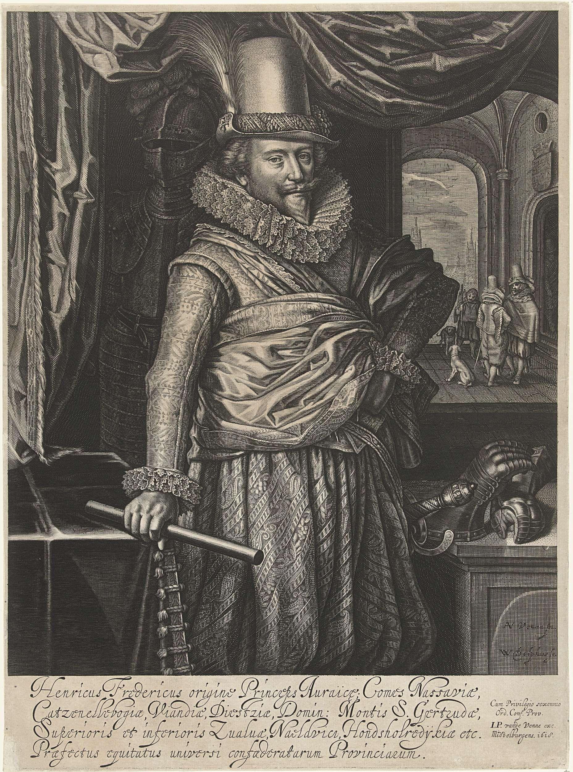 Willem Jacobsz Delff Portret Van Frederik Hendrik Prins