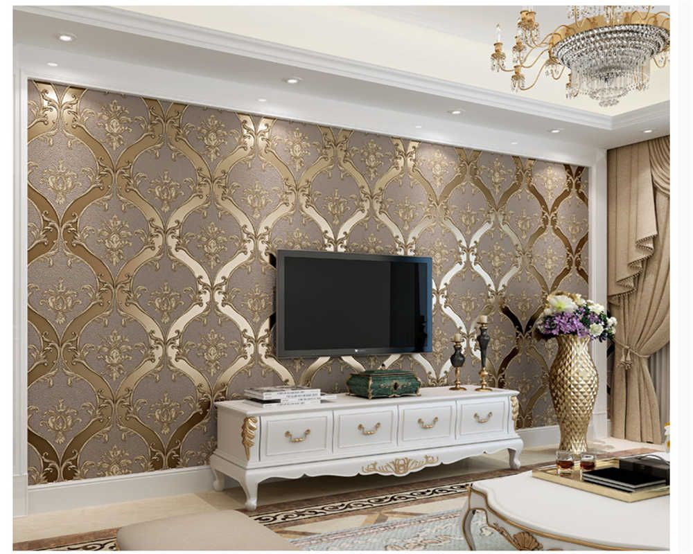 Beibehang European Classic Personality Faux Leather 3d Wallp