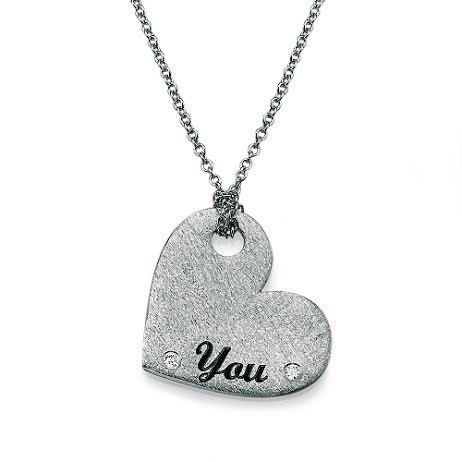 Diamonds Heart Pendant with Personal Engraving by YesIDoJewelries, $375.00
