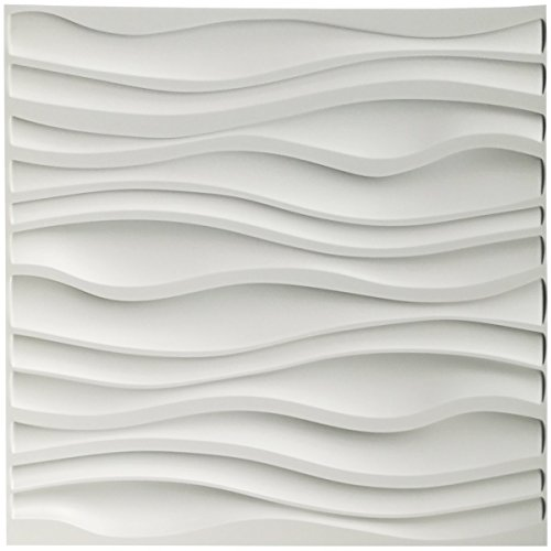 Amazon Com Art3d Pvc Wave Board Textured 3d Wall Panels White 19 7 X 19 7 12 Pack Industrial Scient Decorative Wall Panels 3d Wall Panels Wall Design