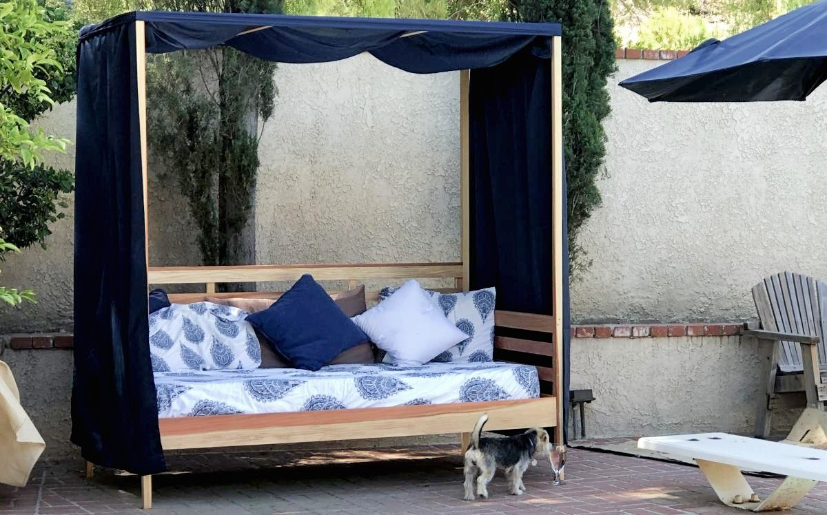 - Outdoor Daybed With Canopy Outdoor Daybed, Daybed Canopy, Diy