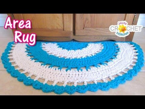Beautiful Half Circle Area Rug Crochet Tutorial