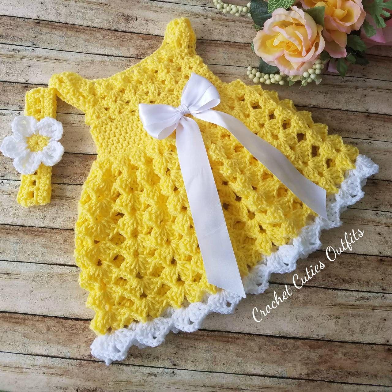 Baby Dress Baby Gift Vestido de Bebe Crochet Bebe Handmade Baby Girl Dress,Crochet Baby Dress Dresses with Flowers Infant Dresses