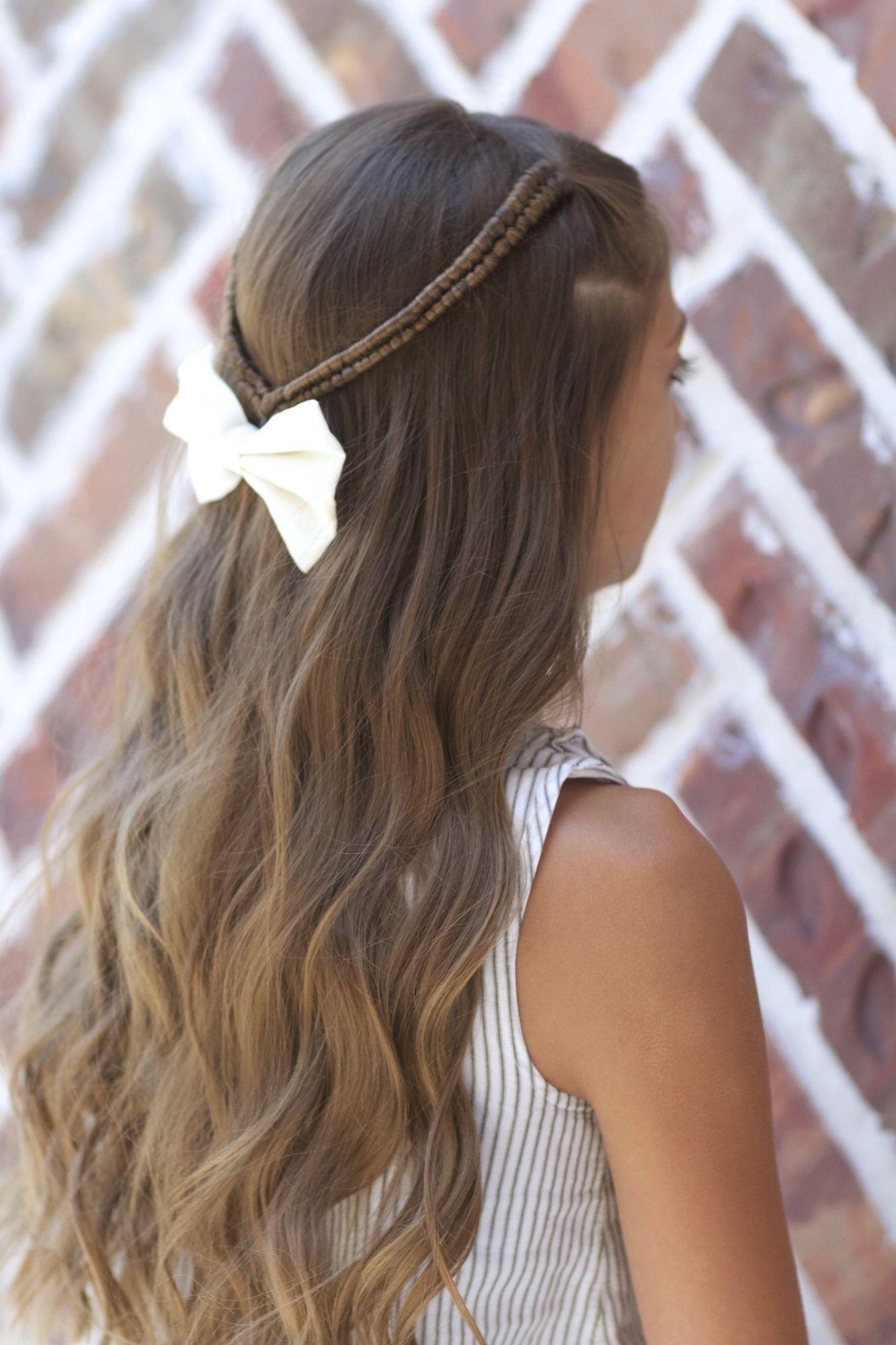Infinity braid tieback backtoschool hairstyles hair design in