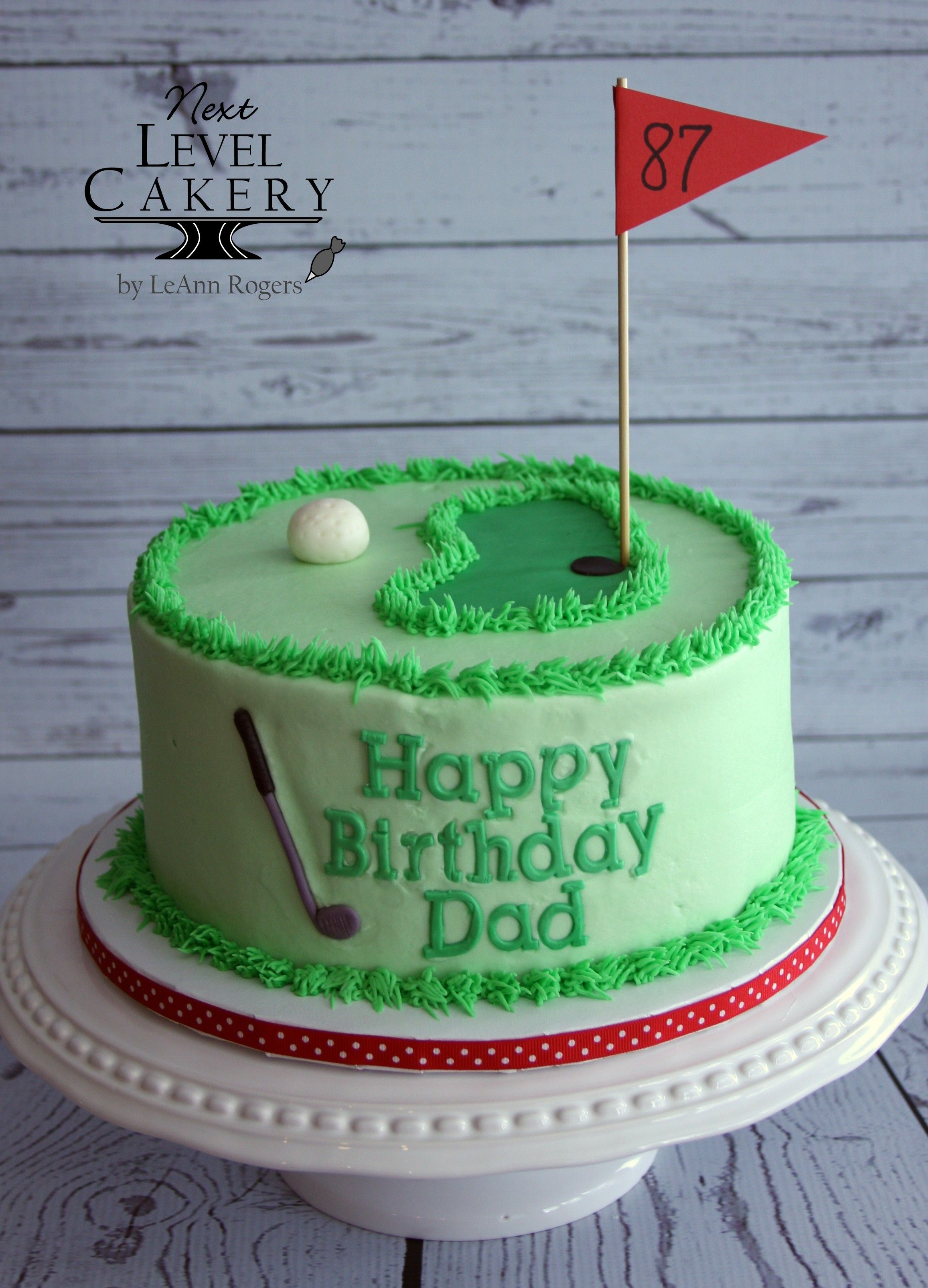 Golf Cake Man S Birthday Golf Ball Flag Golf Club Cake