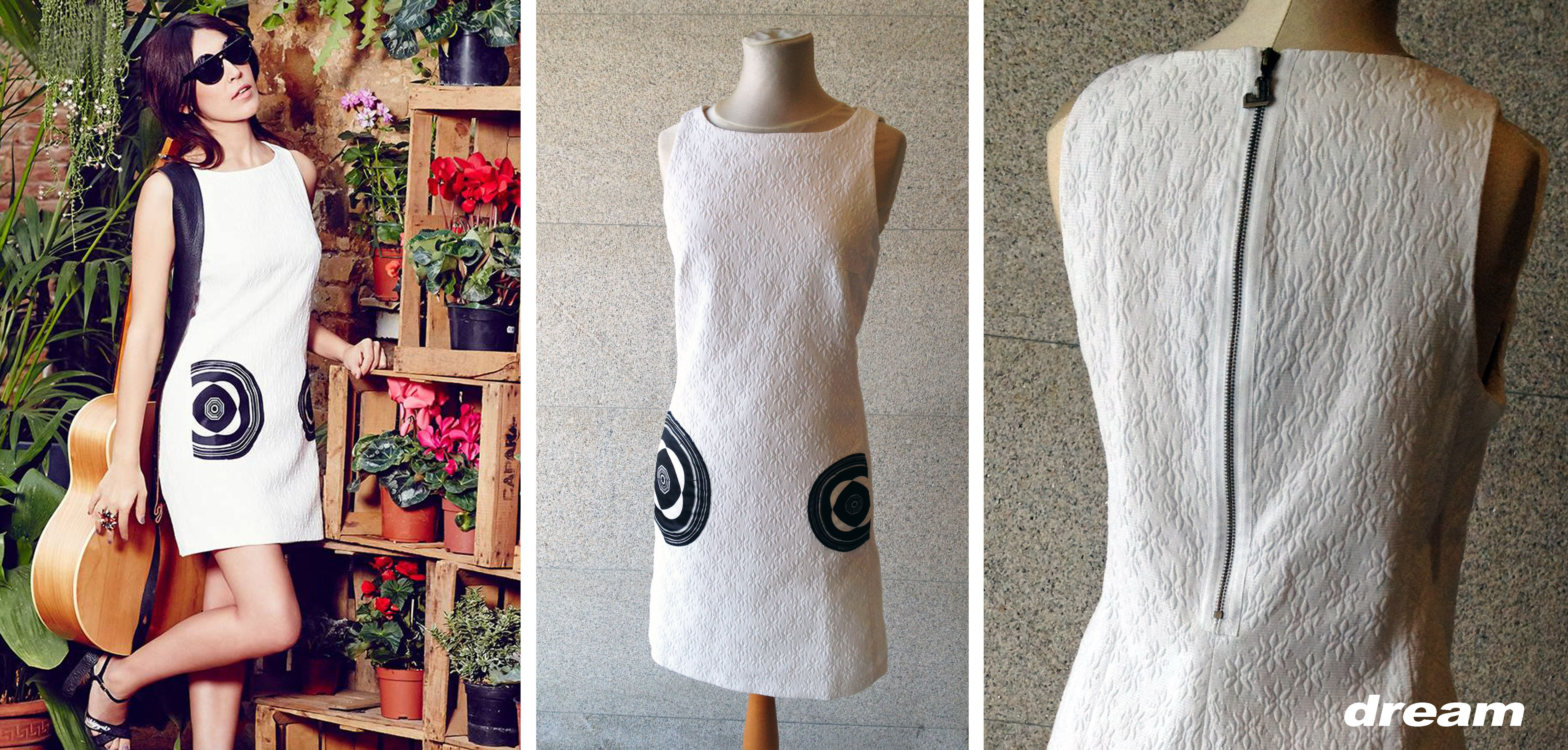 En el top 10 de las tendencias para este verano: un vestido blanco.  En tienda este modelo de corte sencillo donde lo más especial es el tejido: con cuerpo y pequeño relieve.