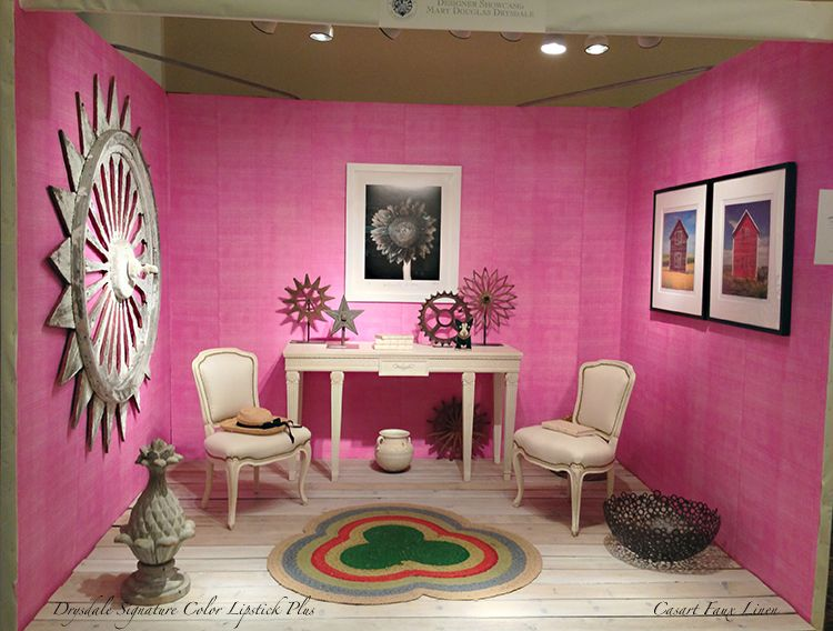 Casart coverings_Room - Drysdale Pink Faux Linen - Antiques in ...