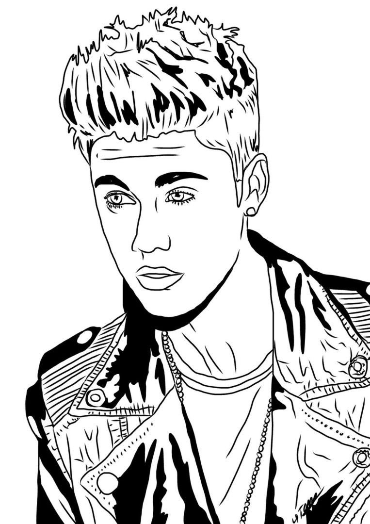 http://colorings.co/justin-bieber-coloring-pages/ #Bieber, #Coloring ...