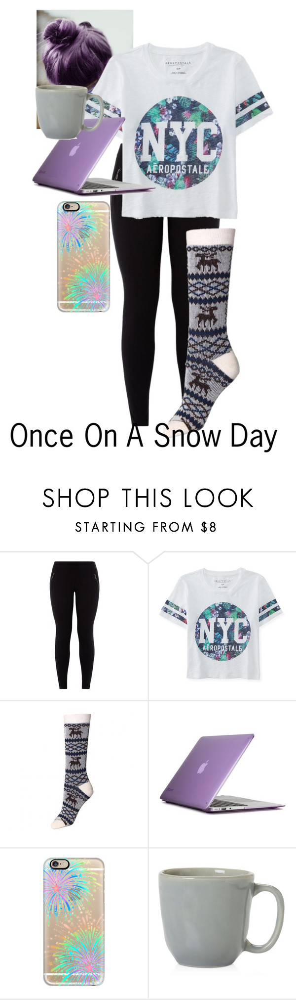 """Once On A Snow Day"" by oned-lm-5sos ❤ liked on Polyvore featuring Aéropostale, Speck, Casetify and Juliska"