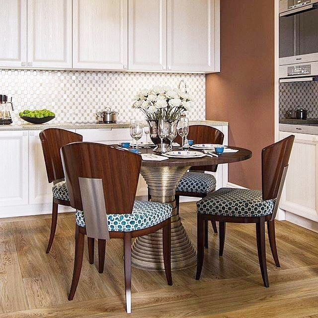 Quaint Kitchen Nook Featuring Vanguard's Willow Dining Table Base Simple Willow Dining Room Decorating Design