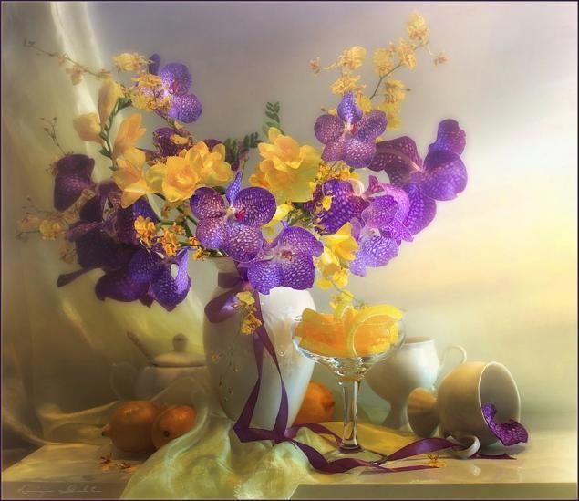 Душевные натюрморты Луизы Гельтс.   Цветочные картины ...