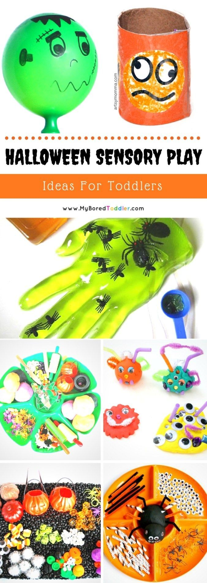 Halloween Sensory Play Ideas for Toddlers, #Halloween #Ideas #Play #Sensory #Toddlers