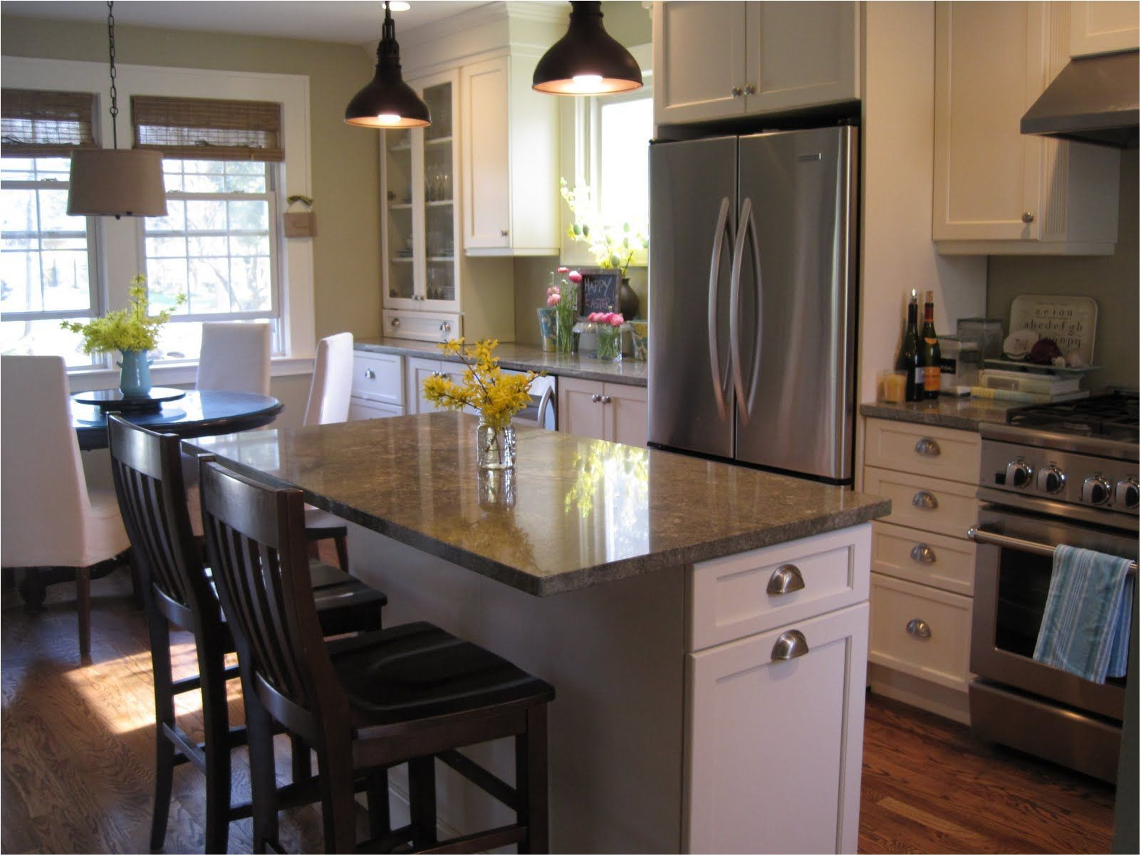 best interesting granite top kitchen island with seating