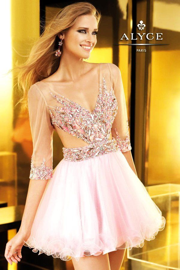 f23408f717a Sparkly Pink Homecoming Dresses  sparkly  pink  homecoming  dress  www.loveitsomuch.com