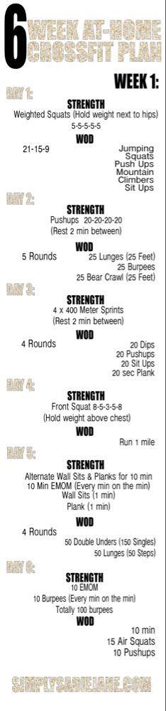 6 WEEK AT-HOME CROSSFIT INSPIRED WORKOUTS: WEEK 1 {Fitness} - ##fitness #1 #6 #AT-HOME #CROSSFIT #In...