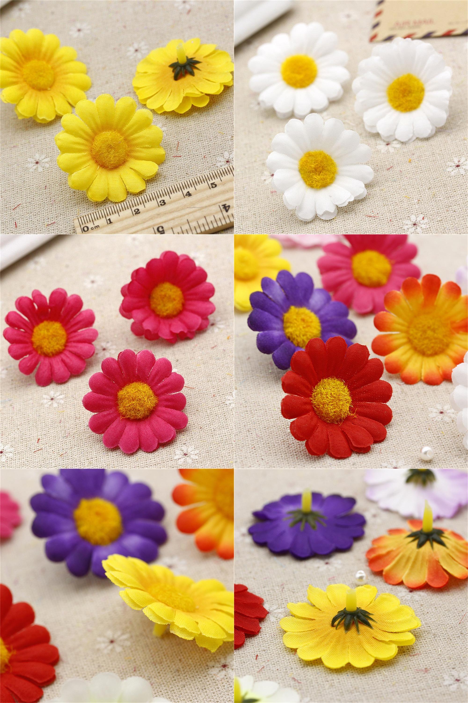Visit To Buy 50pcs 4cm Artificial Silk Simulation Daisy Flower Head
