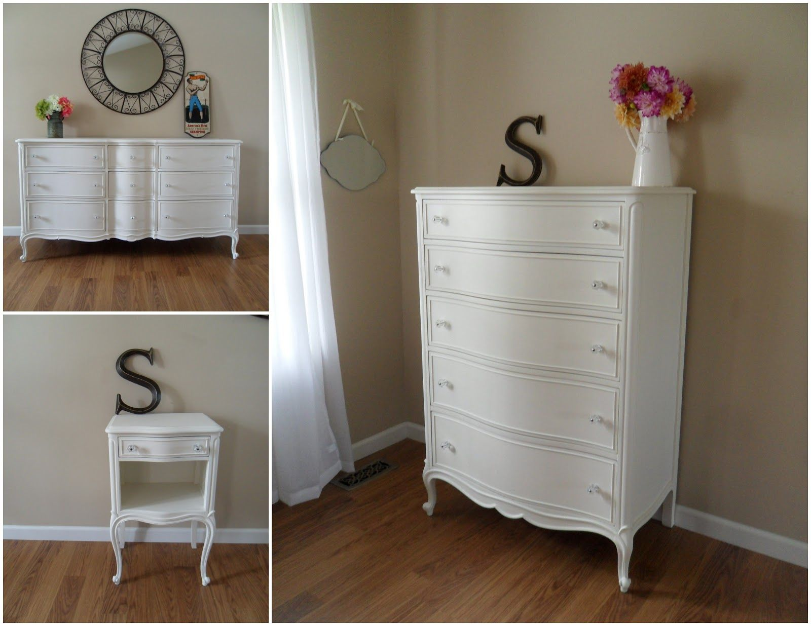 Painted French Provincial bedroom set   Home sweet home ...