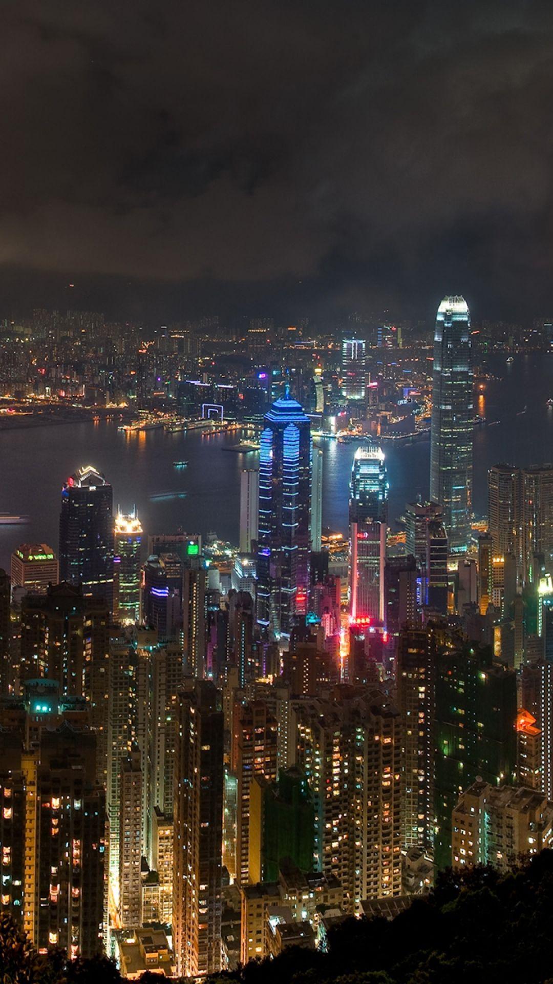 Hong Kong City Night Landscape Night Landscape City City Landscape
