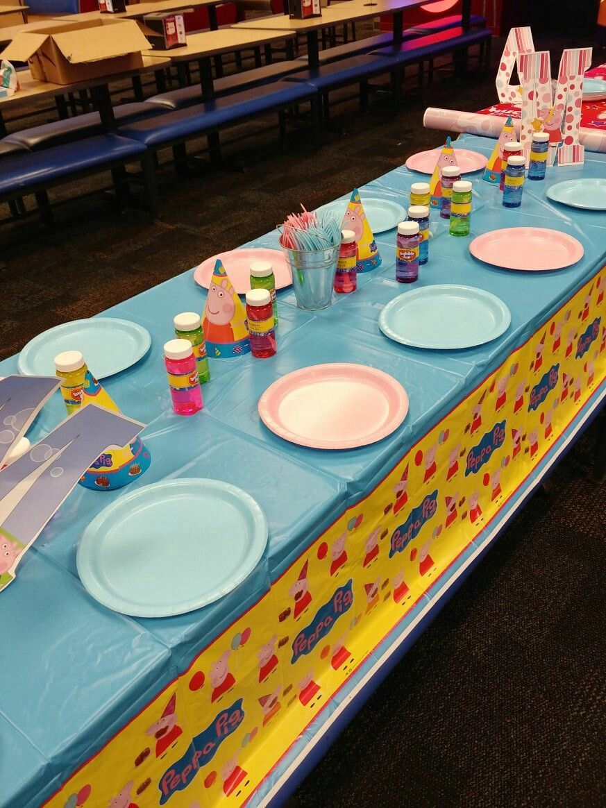Chuck e cheese birthday peppa pig with images peppa