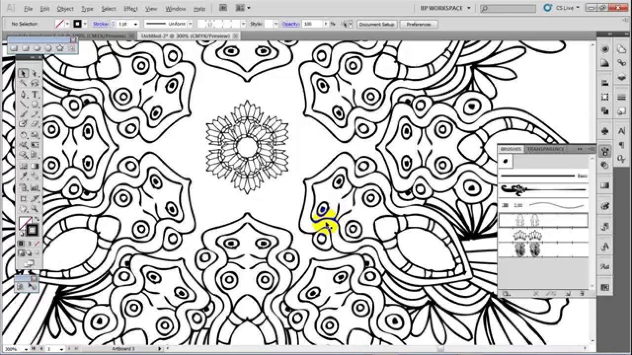 An Easy Way to Make A Mandala with Adobe Illustrator 1