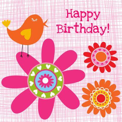 Verjaardag Vogel Kaarten Pinterest