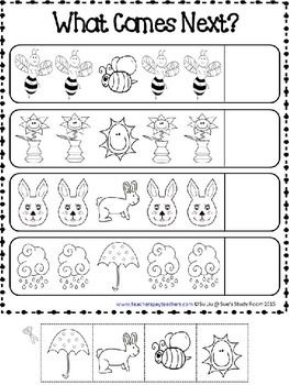 PATTERNS: Spring Patterns Worksheets   Math patterns ...