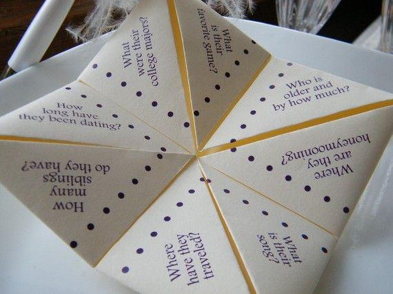 SAMPLE- Cootie Catcher- Origami Wedding FAVOR | Purple winter ...