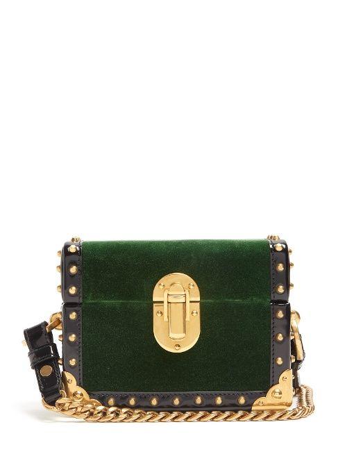 5f54bd892edb PRADA Treasure Trunk Mini Velvet Box Bag. #prada #bags #velvet #patent  #lining #accessories #shoulder bags #charm #