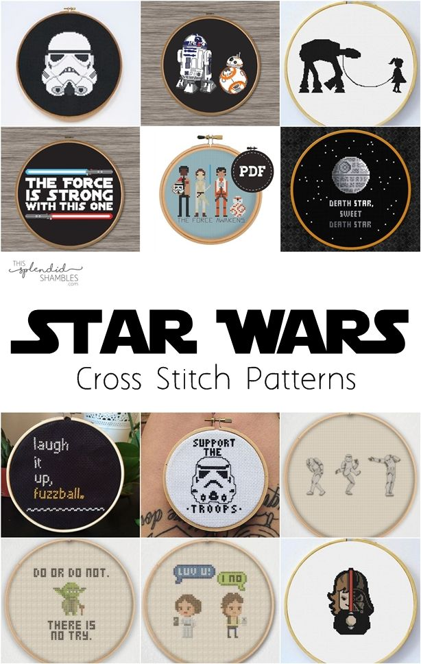 Star Wars Cross Stitch Patterns May The 4th R2 D2 Lightsaber
