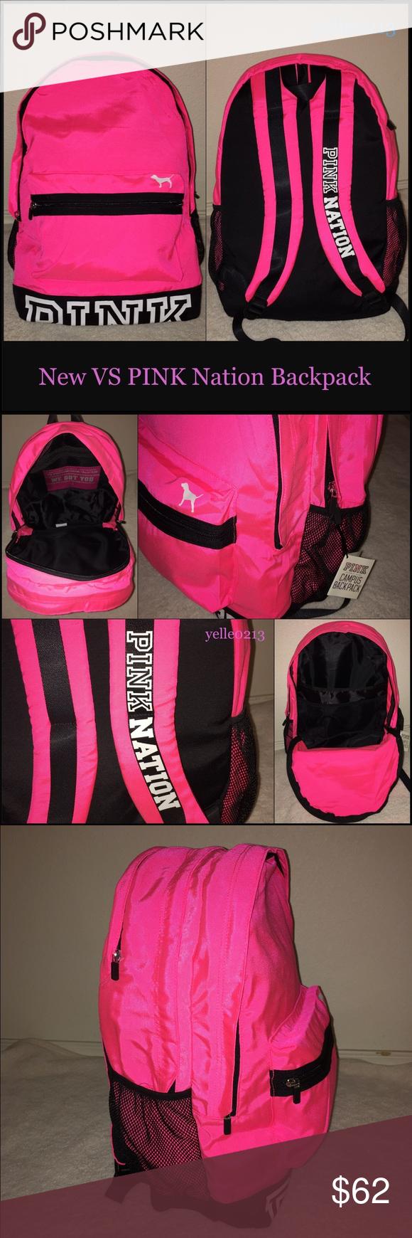 c5edc606b2 Nwt Victoria s Secret PINK Nation Backpack Brand New 100% Auth. Victoria s  Secret PINK Nation Backpack.. Measurements  13