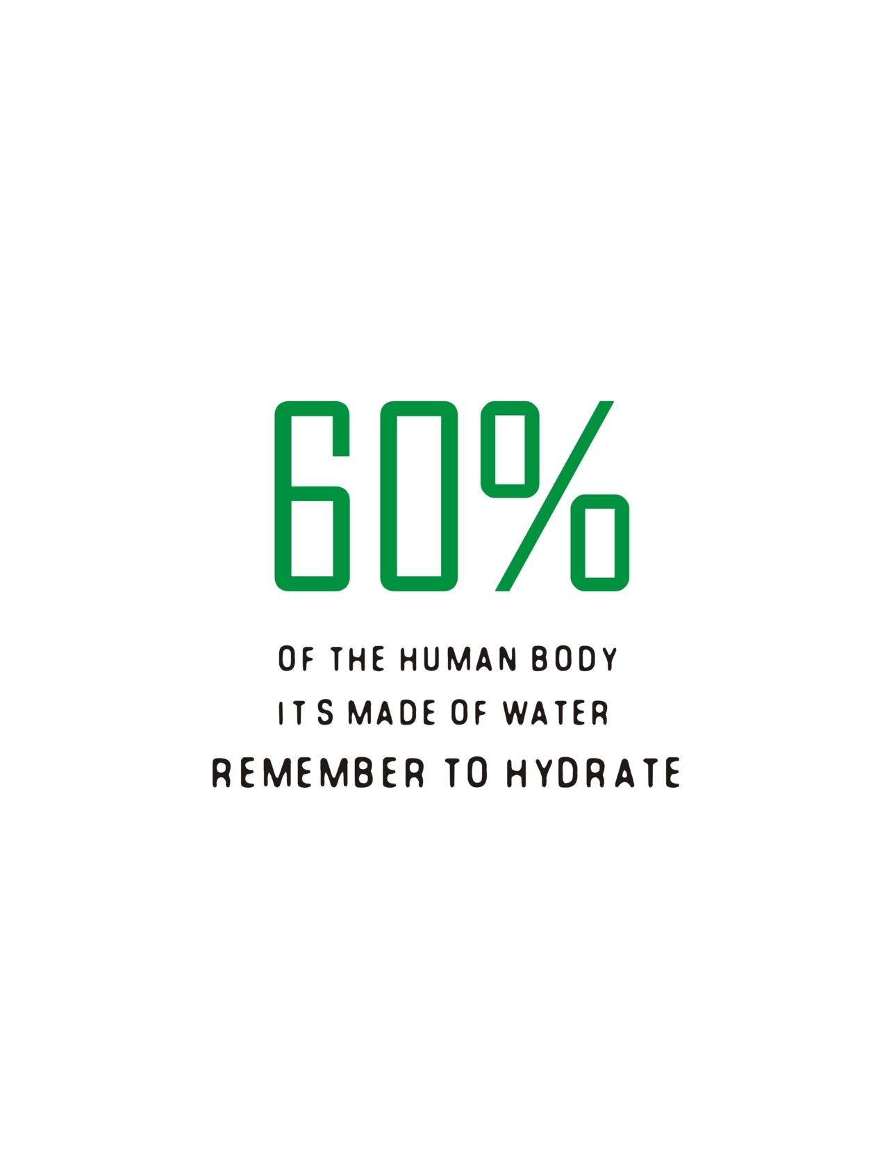 Drink more water, hydrate for your skin and so many