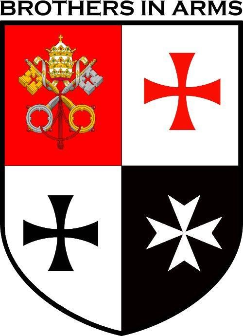 brothers in arms featuring the symbols of the knights