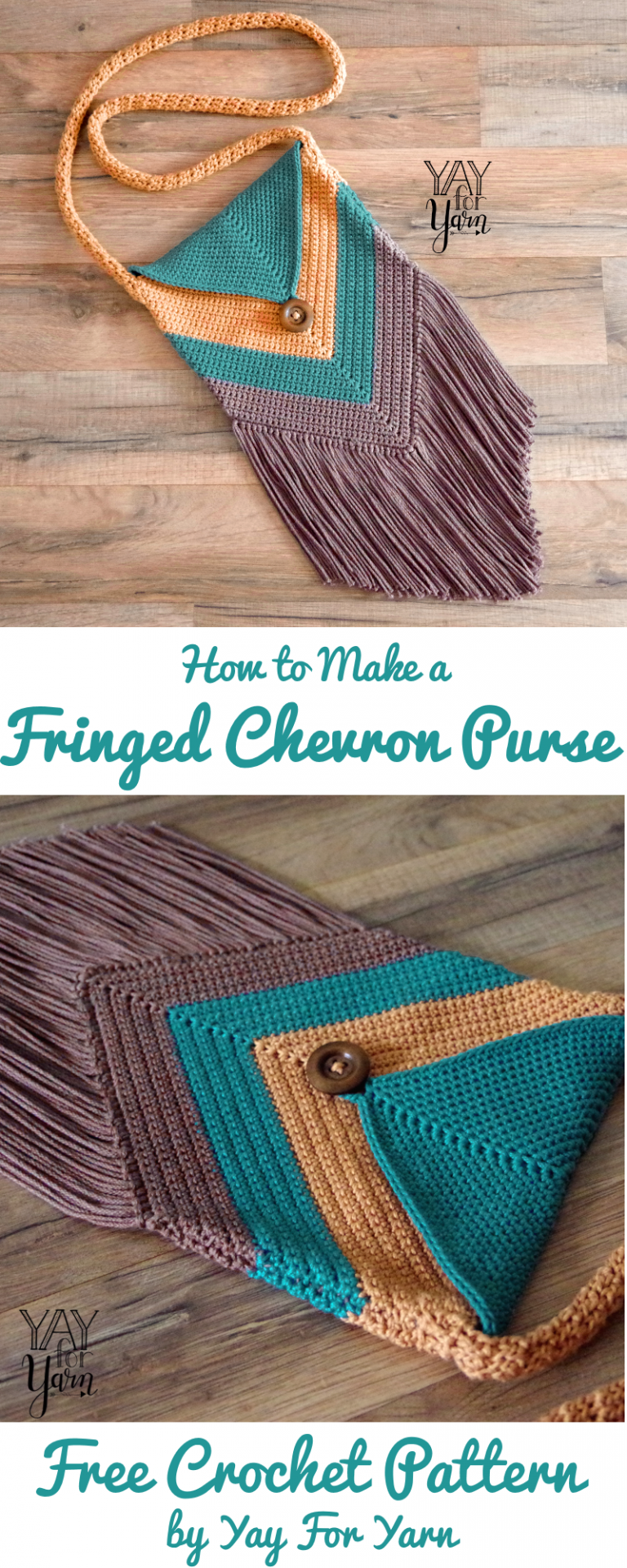 Fringed Chevron Purse - FREE Crochet Pattern