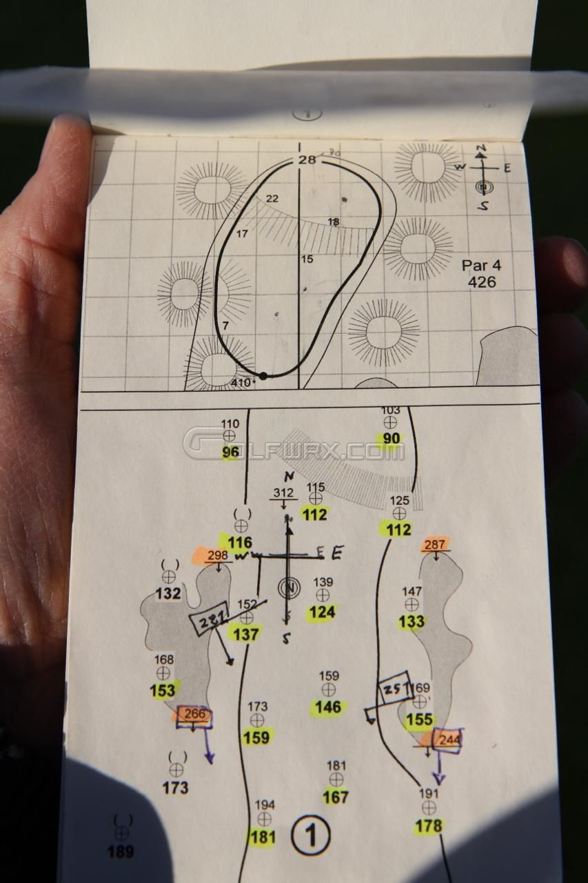 Streels54 Yardage Book from the 2012 Humana Challenge