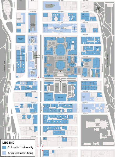 Columbia University  MapSCAPE  Pinterest  Campus Map