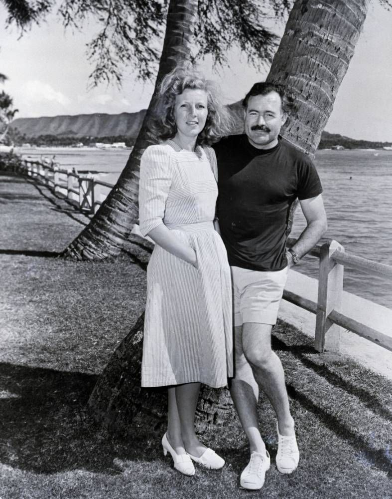 Ernest Hemingway with third wife Martha Gellhorn in Hawaii ...