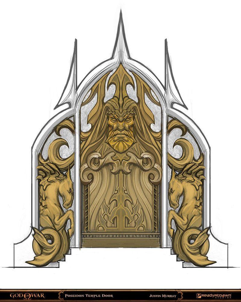 God Of War Poseidon Door By Raggedy Annedroid God Of War Environment Concept Art Poseidon