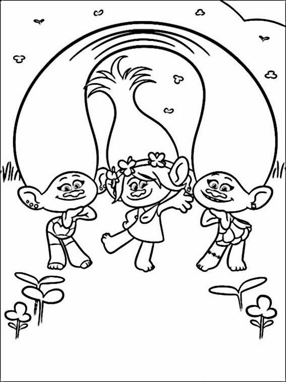 Trolls Coloring Pages 12 For Kids
