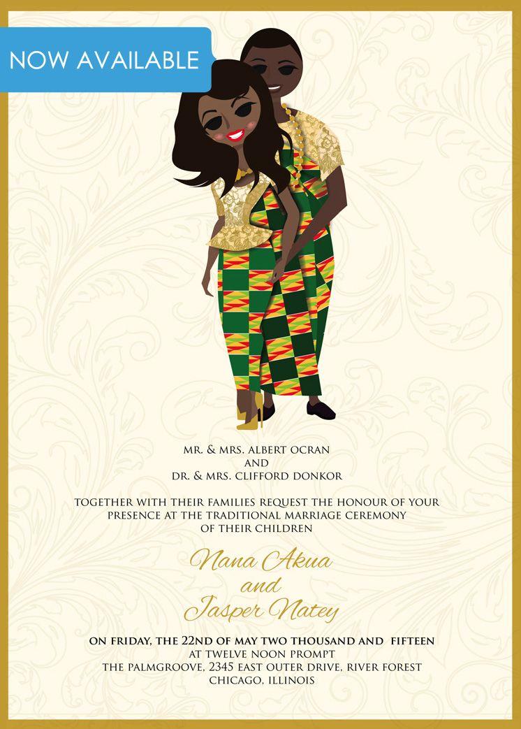 Ghana Traditional wedding invitation Card Ghana Engagement – Traditional Wedding Invitation Card