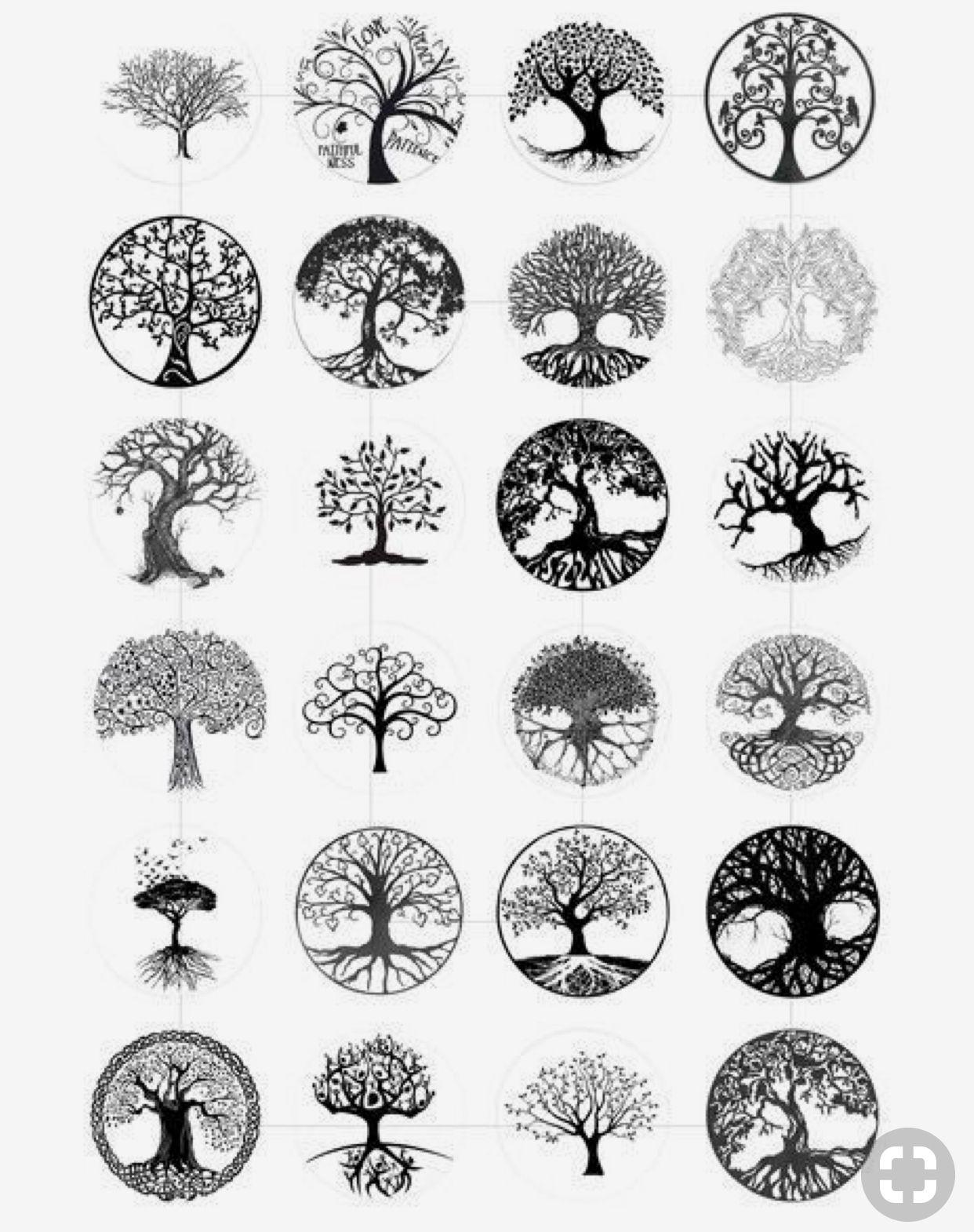 Pin by Christine Slocum on Tatouages   Circle tattoo design, Tree ...