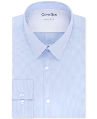 Calvin Klein Calvin Klein X Men 039 S Extra Slim Fit Thermal Stretch Performance Stripe Dress Shirt Mens Shirt Dress Slim Fit Dress Shirts Calvin Klein Men