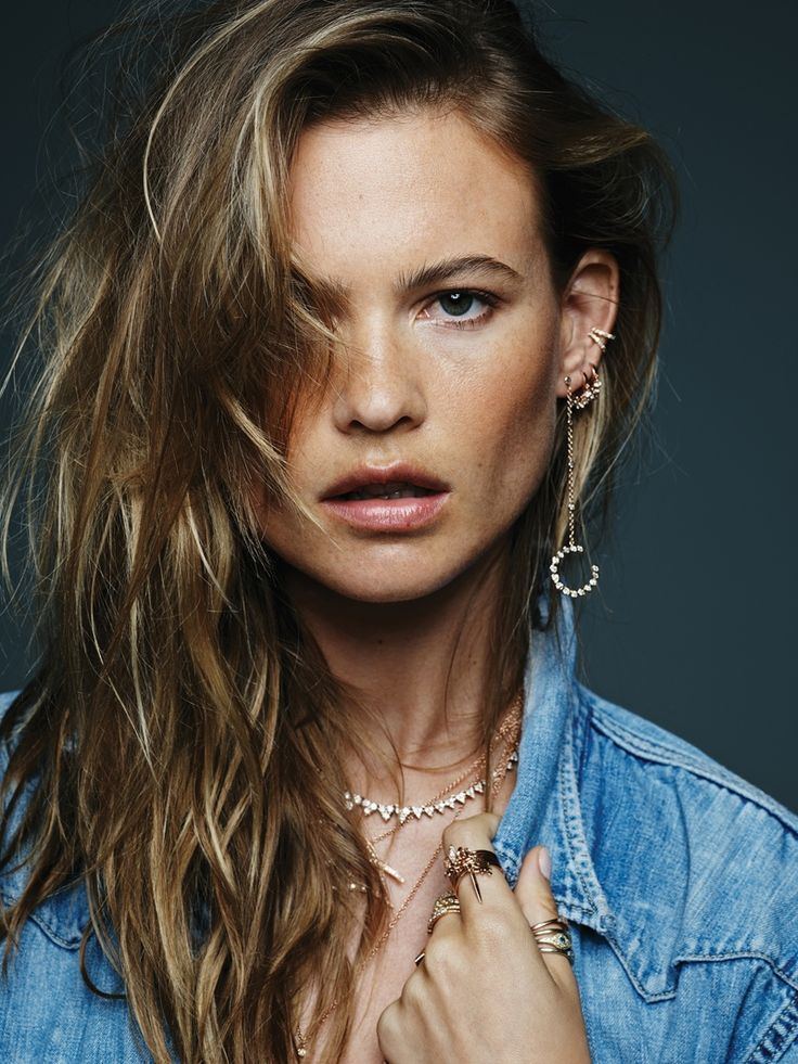 Behati Prinsloo in Jacquie Aiche Jewelry fall-winter campaign Photoshoot.
