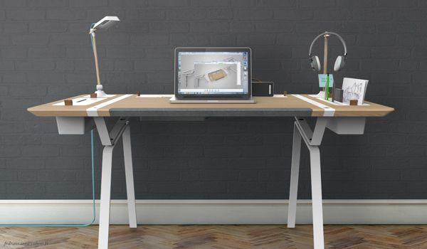 Mesa para los muy organizados...quiero tener la mía así.