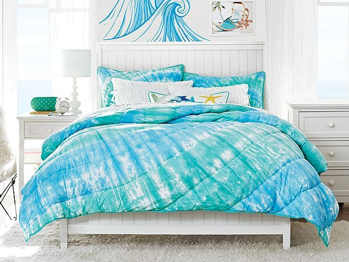 Teen Beach Bedroom Ideas Part - 26: Bedding That Will Make You Feel Like Youu0027re Surfing In Tie Dye