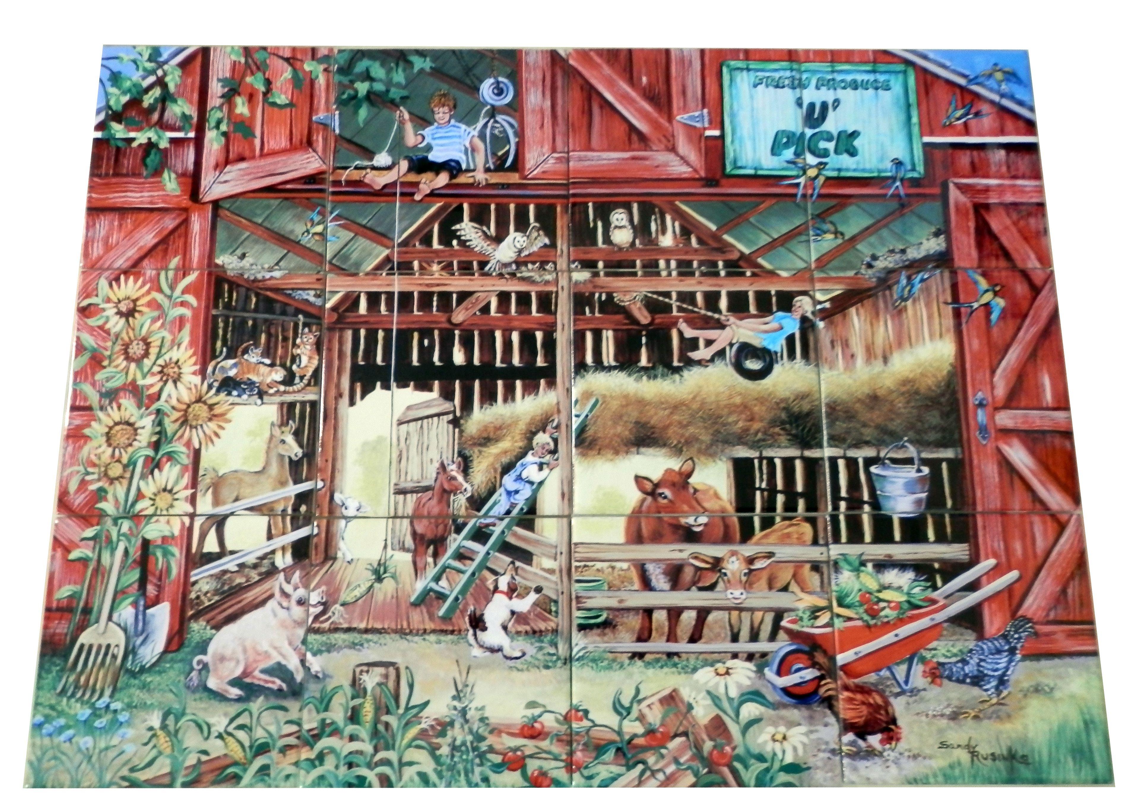 Best Days of SummerSR Tile Mural Farm animal mural