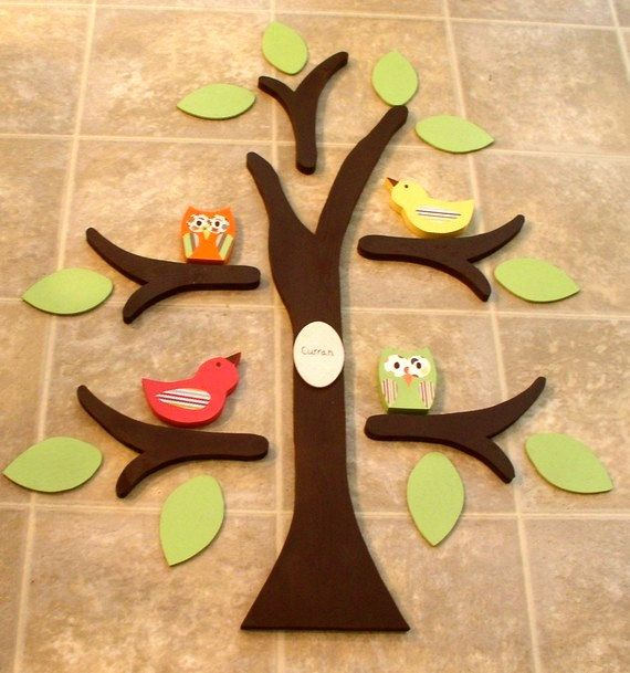 Wooden tree, tree wall art, nursery decor, owl nursery, room decor ...