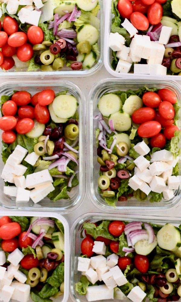 Lunch Meal Prep Greek Salad Bowl images