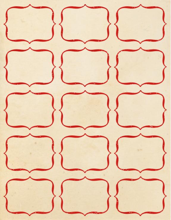 1000+ images about Red Bordered Labels, Gummed Vintage Label ...