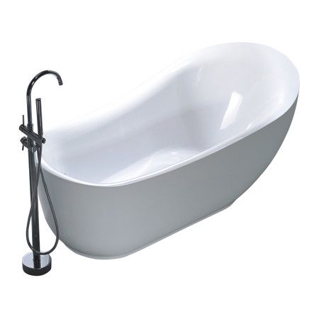 Utica 71 X 35 Bathtub Soaking Bathtubs Free Standing Bath Tub Beachy Bathroom