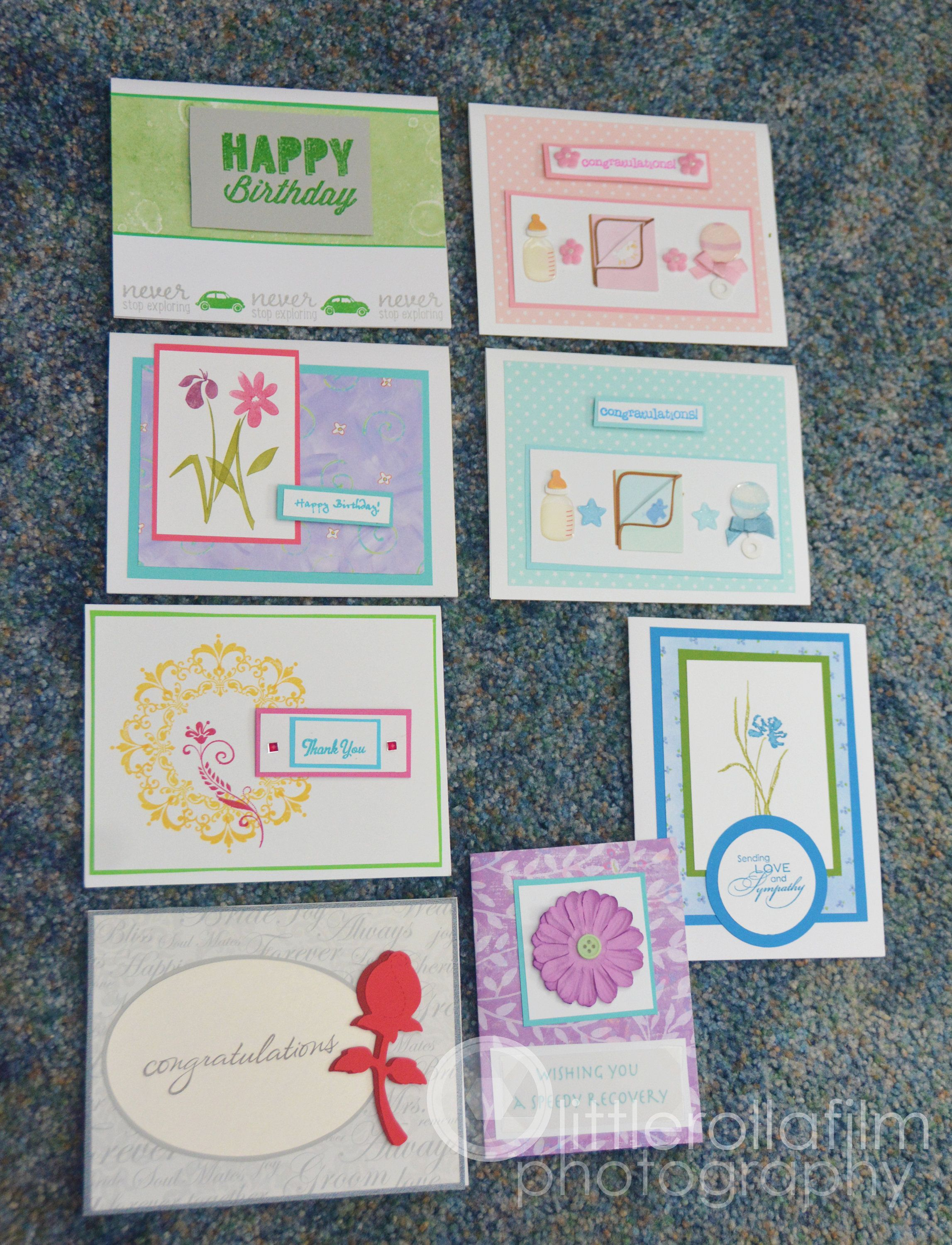 Set Of 8 Assorted Card Package 02 By Littlerollafilm On Etsy Homemade Greeting Cards